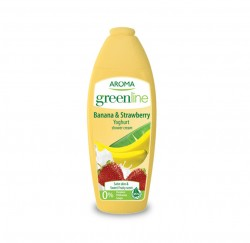 AROMA Green Line Yoghurt Shower Cream Banana Strawderry 400ml