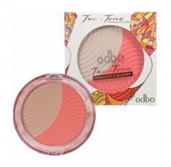 odbo Two Tone Highlight Blusher 17g