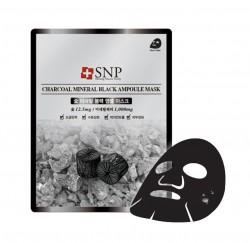 SNP Charcoal Mineral Black Ampoule Mask 25g