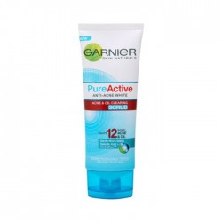 GARNIER  SKIN NATURALS PURE ACTIVE ANTI-ACNE WHITE ACNE & OIL CLEARING FOAM 100 ml.