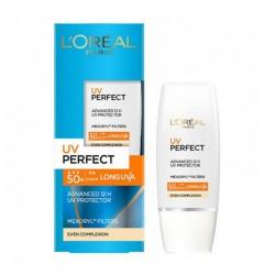 LOREAL PARIS UV PERFECT ADVANCED 12 H UV PROTECTION EVEN COMPLEXION SPF 50+/PA++++ 30 ml