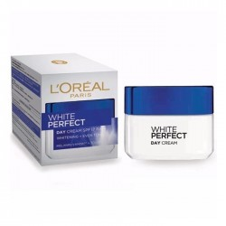 LOREAL Paris WHITE PERFECT DAY CREAM SPF17 PA++ WHITENING + EVEN TONE 50 ml
