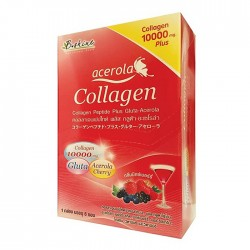 B SHINE COLLAGEN 10000 PLUS GLUTA ACEROLA MIXED BERRY 6'S/กล่อง