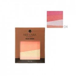 NEE CARA Silky Shine 4 Color Blush Palette no.04 8g