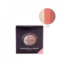 NEE CARA Shimmer Triple Eyeshadoow Professional Makeup no.03 4.8g