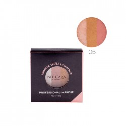NEE CARA Shimmer Triple Eyeshadoow Professional Makeup no.05 4.8g