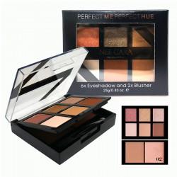 NEE CARA Perfect Me Perfect Hue 6x Eyeshadow and 2x Blusher no.02 25g