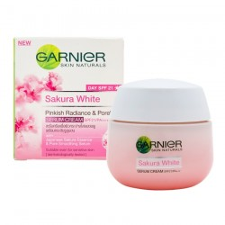GARNIER SKIN NATURALS SAKURA WHITE PINKISH RADIANC& PORELESS SERUM CREAM SPF21/ PA+++ 50ml